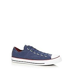 Converse - Blue canvas contrast lo-top trainers