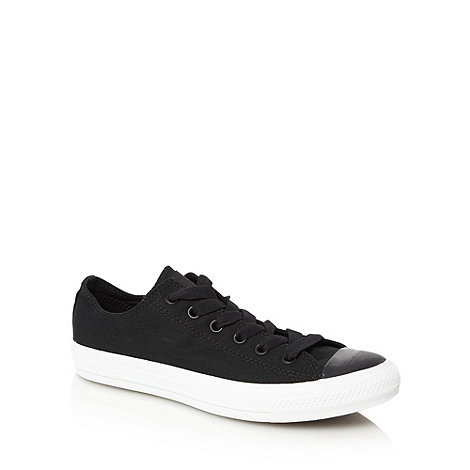 Converse - Black canvas lo-top trainers