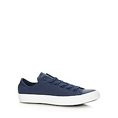 Converse - Navy canvas lo-top trainers