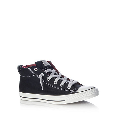 Converse - Black contrast colour hi-top trainers