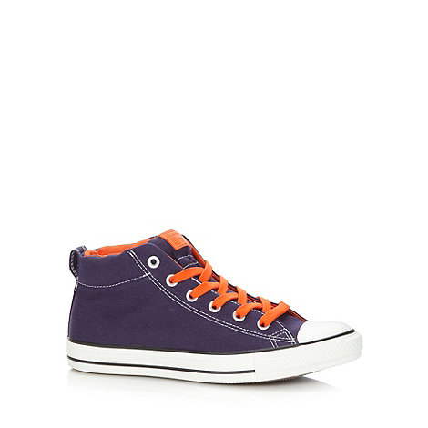 Converse - Dark purple contrast colour hi-top trainers