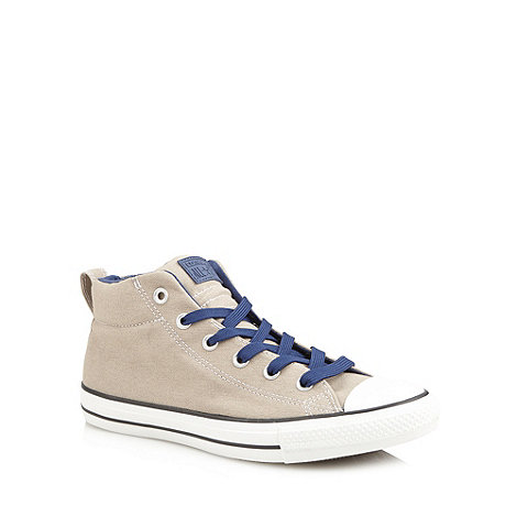 Converse - Taupe contrast colour hi-top trainers