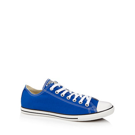 Converse - Blue +All Star+ canvas trainers