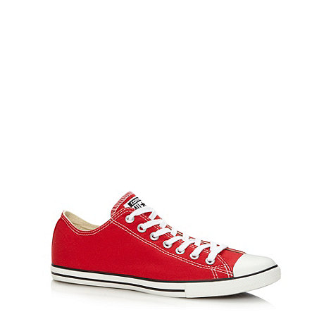 Converse - Red +All Star+ canvas trainers