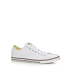 Converse - White 'All Star' canvas trainers