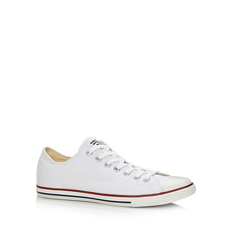 Converse - White +All Star+ canvas trainers