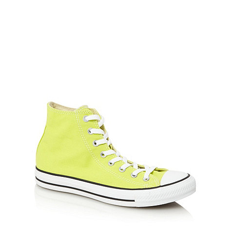 Converse - Yellow canvas hi-top trainers