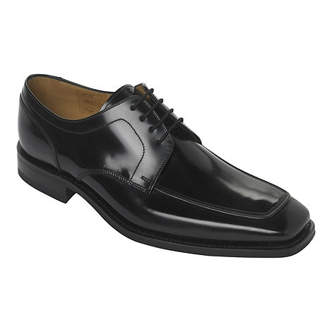 Loake - Wide fit black apron lace up shoes