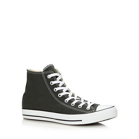Converse - Dark green +All Star+ canvas hi-top trainers