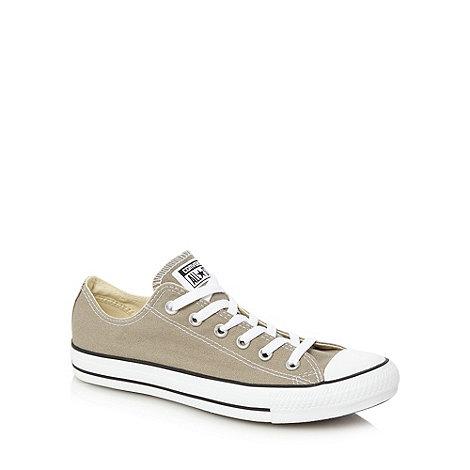 Converse - Grey canvas lo-top trainers