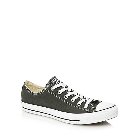 Converse - Green canvas lo-top trainers