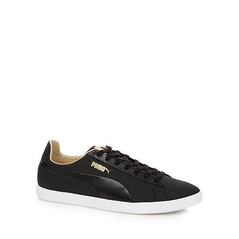 Puma - Black +Modern Court+ leather trainers