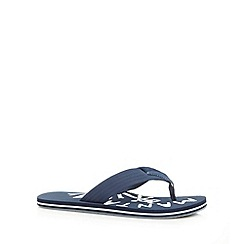Mantaray - Navy fabric strap flip flops