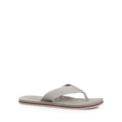 Mantaray - Grey fabric strap flip flops