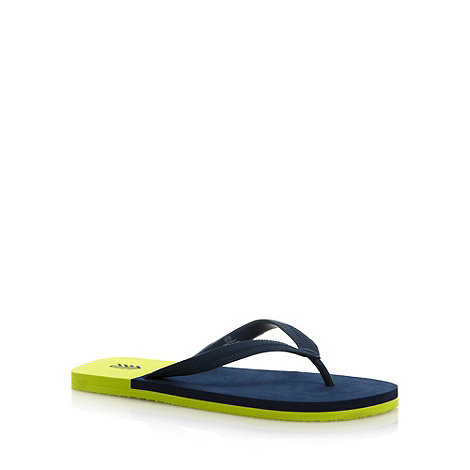 FFP - Navy colour block textured flip flops