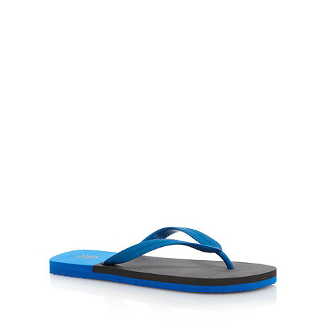 FFP - Grey colour block textured flip flops