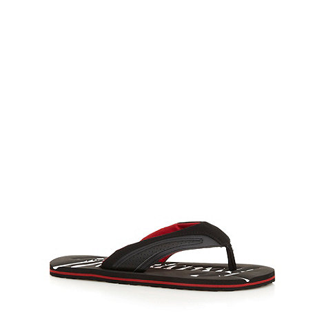 Mantaray - Black textured flip flops