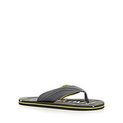 Mantaray - Grey textured flip flops