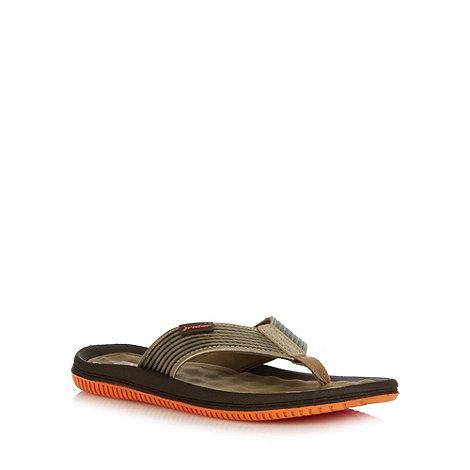 Rider - Khaki ridged flip flops