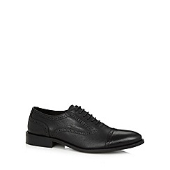 RJR.John Rocha - Designer black leather toe cap brogues