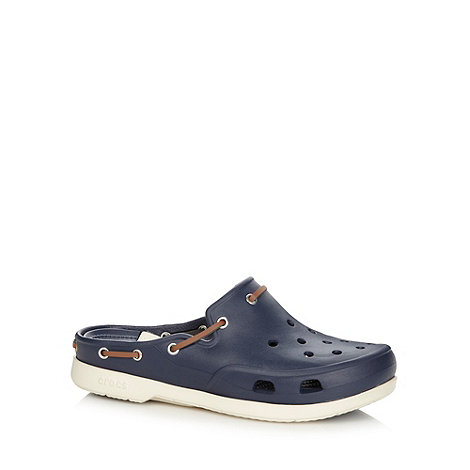 Crocs - Navy striped insole unisex clogs