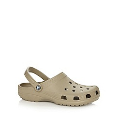 Crocs - Khaki classic cutout sandals