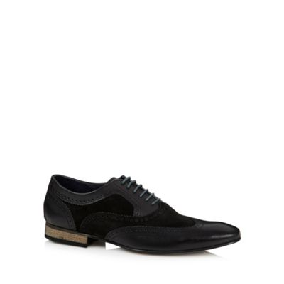 Base London Black leather mix brogues - . -