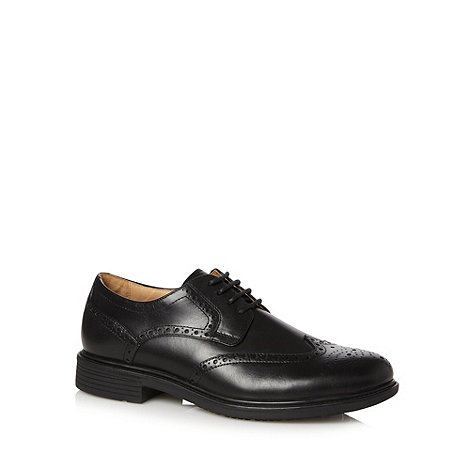 Henley Comfort - Black leather lace up brogues