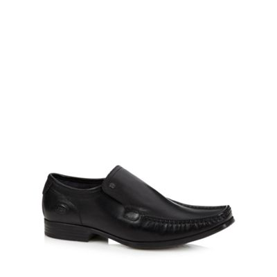 Base London Black leather loafers - . -