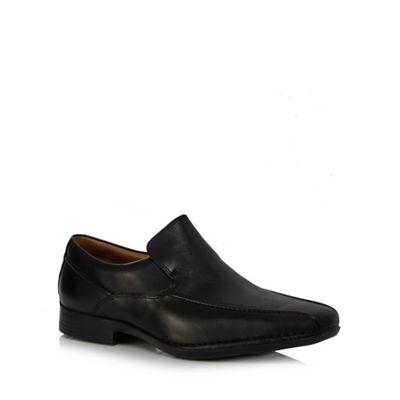 Clarks Black ´Francis Flight´ leather slip on shoes - . -