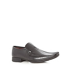 Clarks - Black 'Ferro' leather stitched loafers