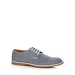 Clarks - Light blue leather 'Farli Walk Gibson' shoes