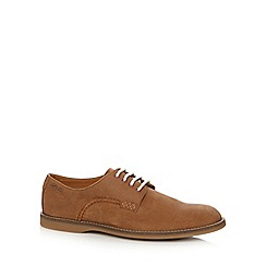 Clarks - Tan leather 'Farli Walk Gibson' shoes