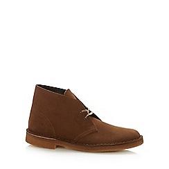 Clarks - Tan suede 'Original' Desert boots