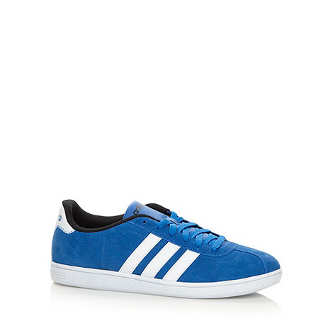 adidas - Blue +Court Satellite+ suede trainers