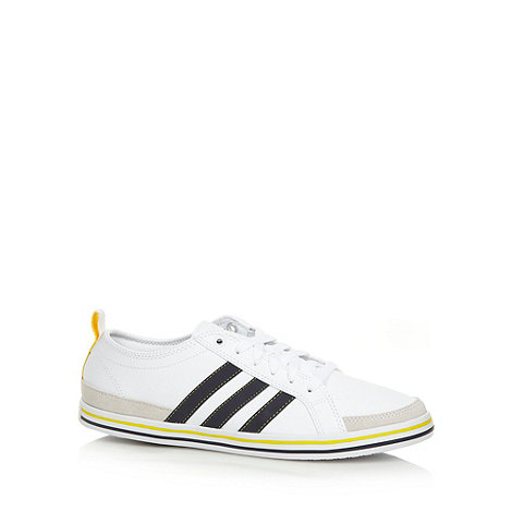 adidas - White +Slimsoll+ coated leather trainers