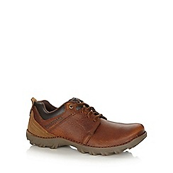 Caterpillar - Brown leather stitched heavy duty shoes