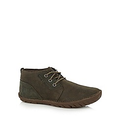 Caterpillar - Dark green leather lace up boots