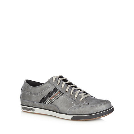 Skechers - Grey 'Lanyard Passport' trainers