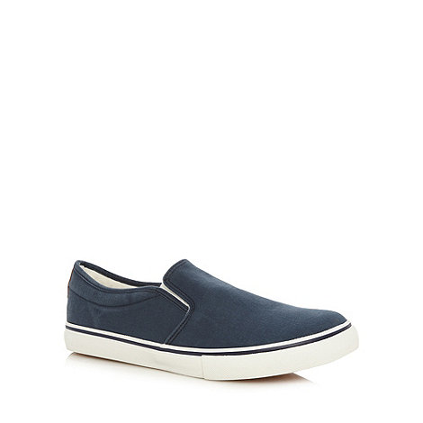 FFP - Navy slip on canvas trainers
