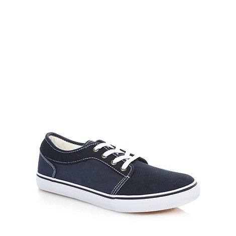 FFP - Navy suede leather trainers