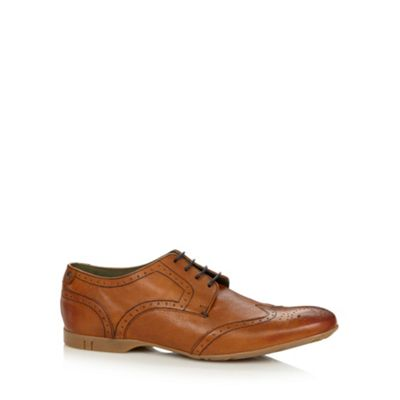 Base London Tan leather contrast lace brogues - . -