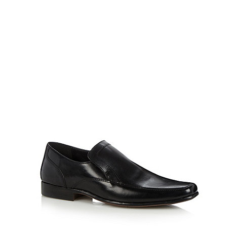 Thomas Nash - Black slip on leather shoes