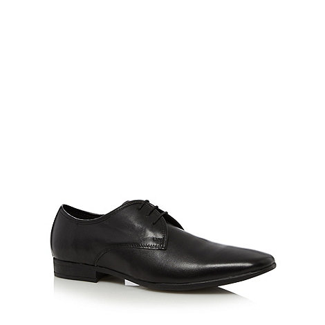 Thomas Nash - Black leather three eye shoes