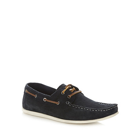 Red Herring - Navy suede boat shoes