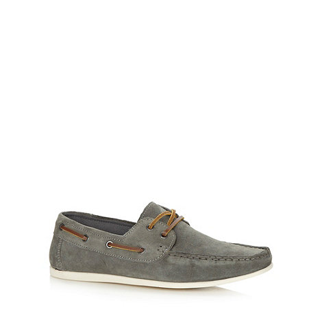 Red Herring - Grey suede boat shoes