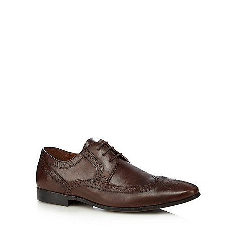 Red Herring - Brown leather pointed toe brogues