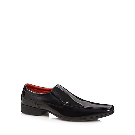 Jeff Banks - Designer black tramline stitched shoes