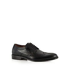 J by Jasper Conran - Designer black leather punched hole brogues