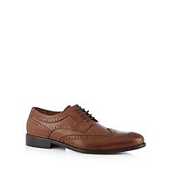 J by Jasper Conran - Designer tan leather punched hole brogues